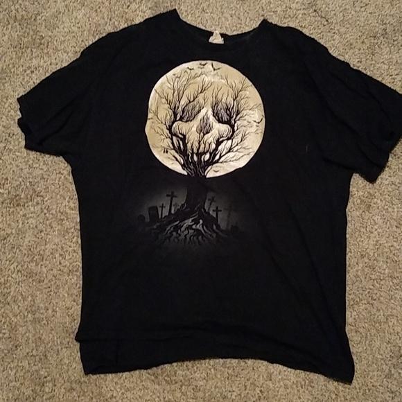 glow in the dark halloween shirt